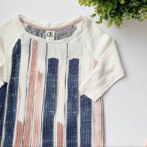 Anthro | OS | Pleated Blush Watercolor Blouse XS